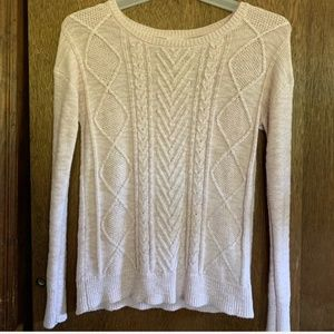Mossimo Cream Textured Sweater, Size S